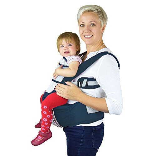 Nimnik Ergonomic Hipseat Multi Position Baby Carrier Dark Blue 0 8